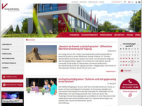 Website mit TYPO3: Universität Vechta