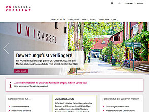 Website mit TYPO3: Universität Kassel
