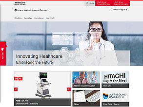 Website mit TYPO3:  Hitachi Medical Systems