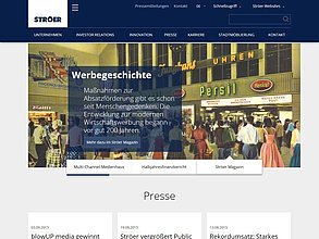 Website mit TYPO3: Ströer out-of-home-media