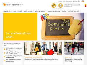 Website mit TYPO3: Stadt Oldenburg