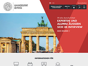 Website mit TYPO3: Universität Leipzig