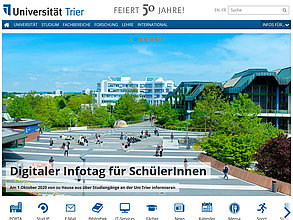 Website mit TYPO3: Universität Trier