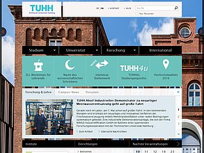 Website mit TYPO3: Technische Universität Hamburg