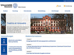 Website mit TYPO3: Universität Rostock