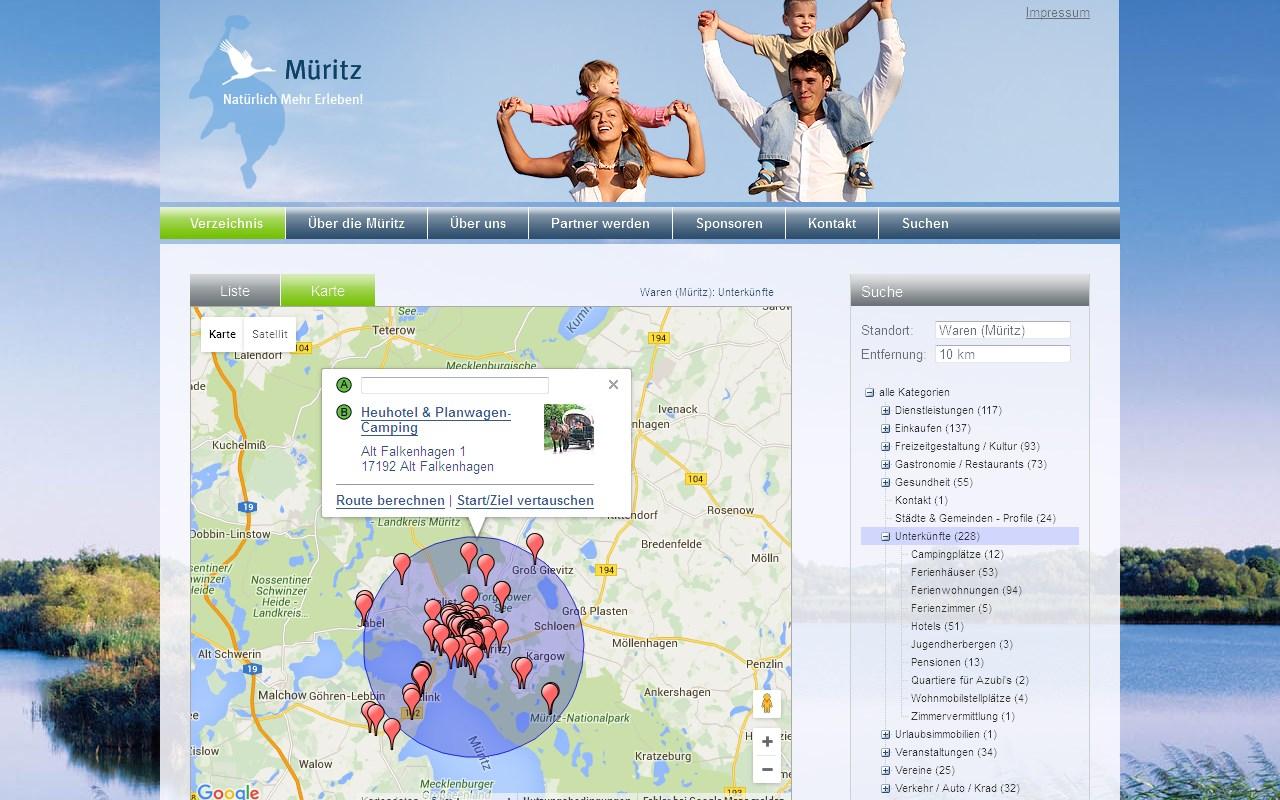 Typo3 Websites Typo3 Extension A7maplist Fur Anbieterumkreissuche