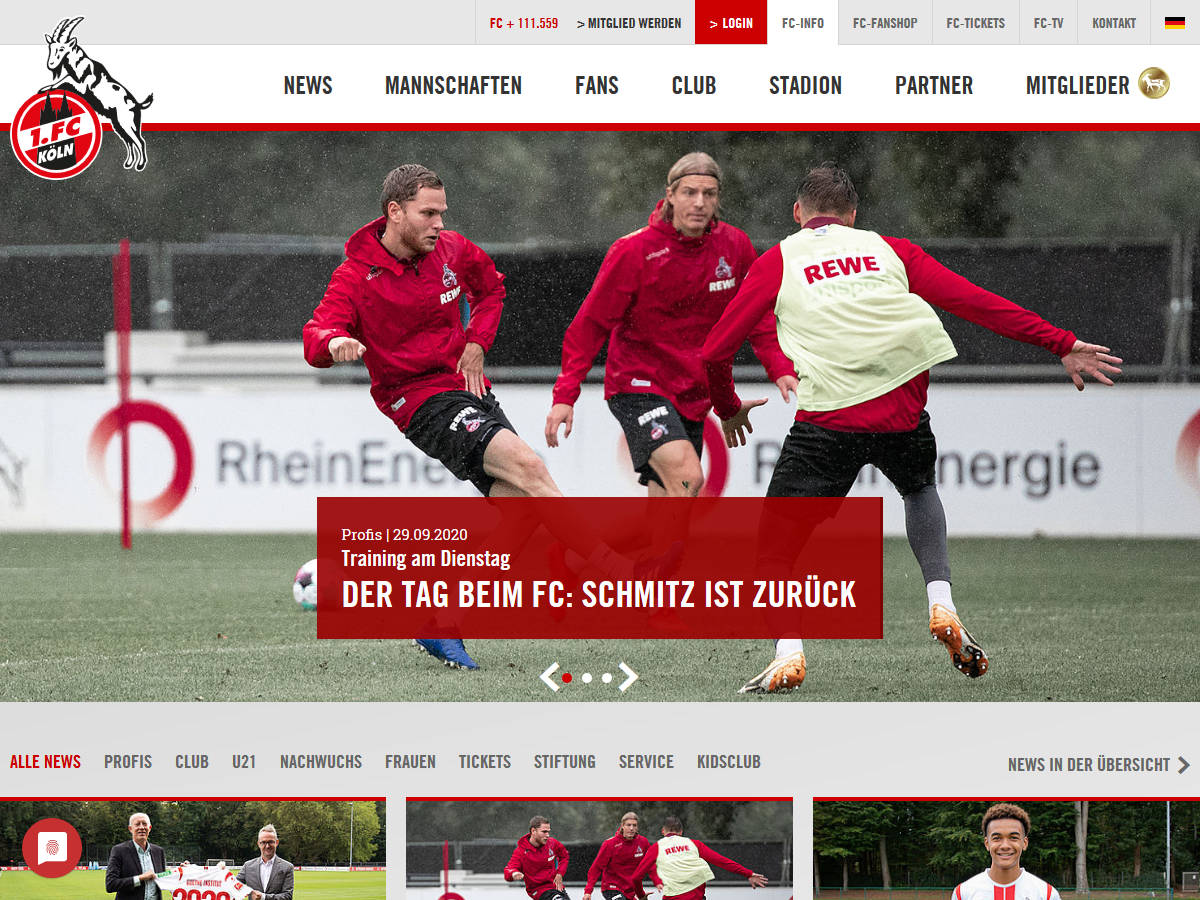 TYPO3-Websites - Sportvereine- und verbände mit TYPO3-Websites