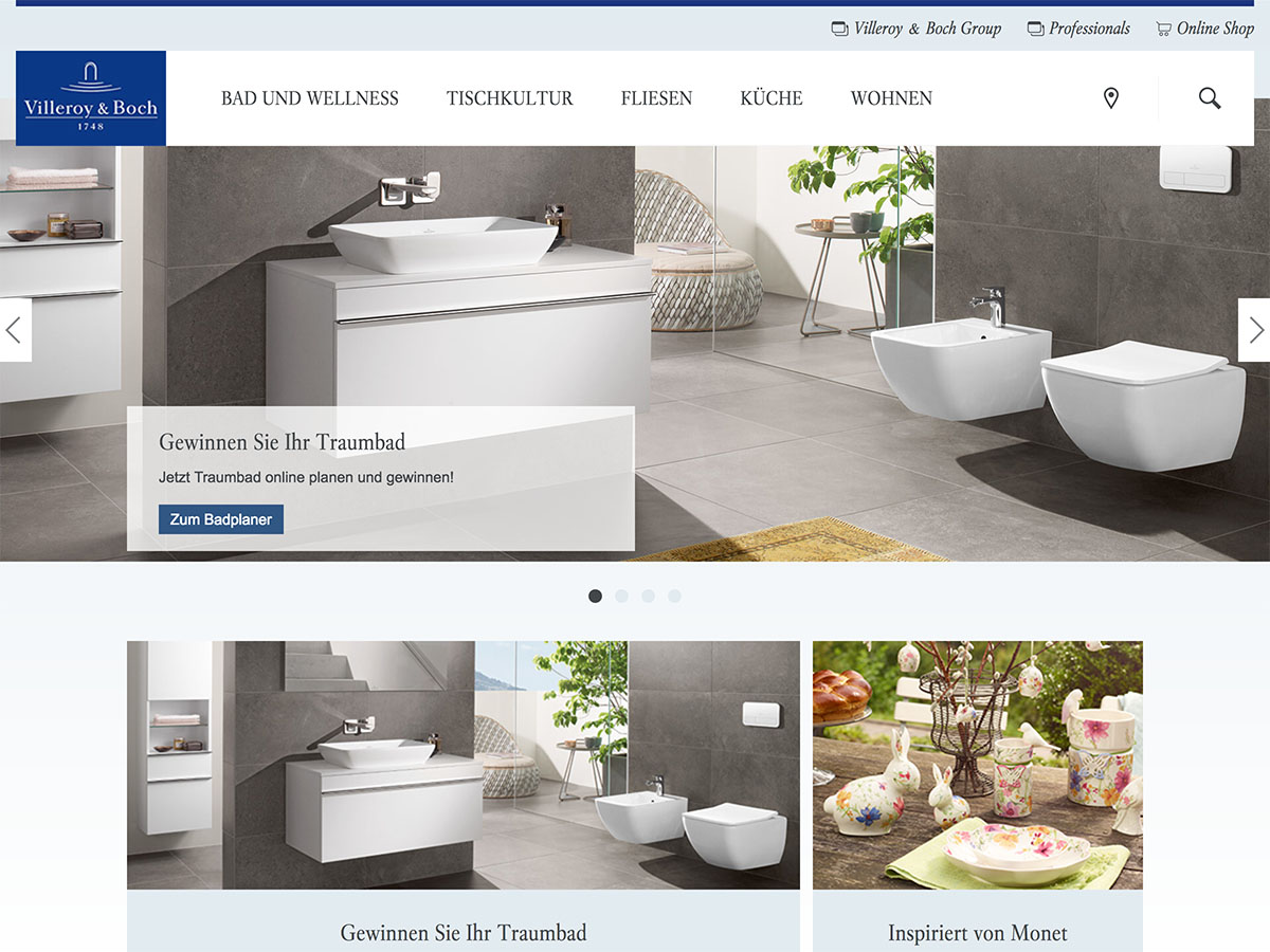 typo3-websites - noted companies with typo3 web sites - Villeroy Boch Badplaner Traumbad